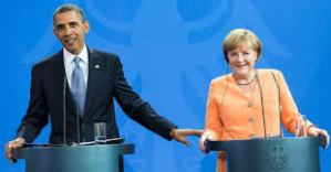 "Obama: ""I checked the pictures on Angela's smartphone. She has no selfies"". - Photo German government"